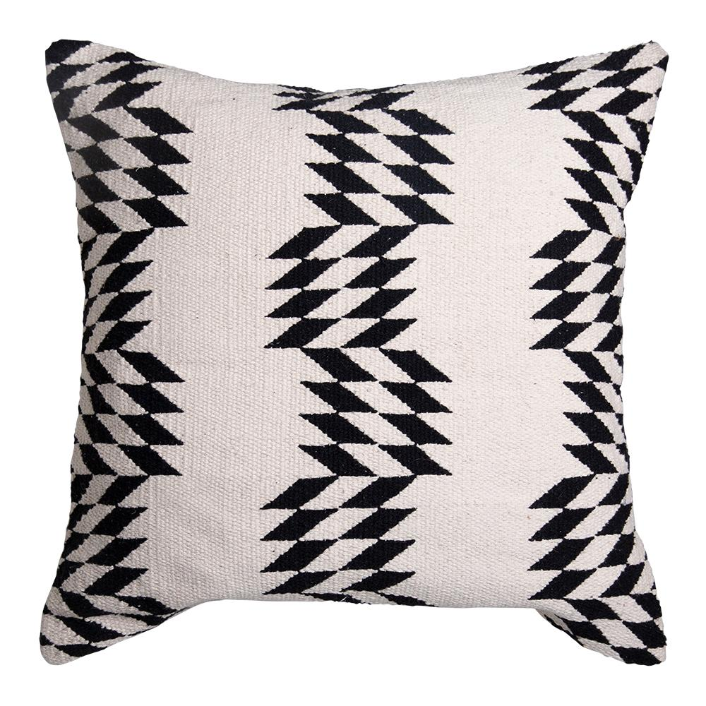 CALETA CUSHION 50X50CM NATURAL / BLACK