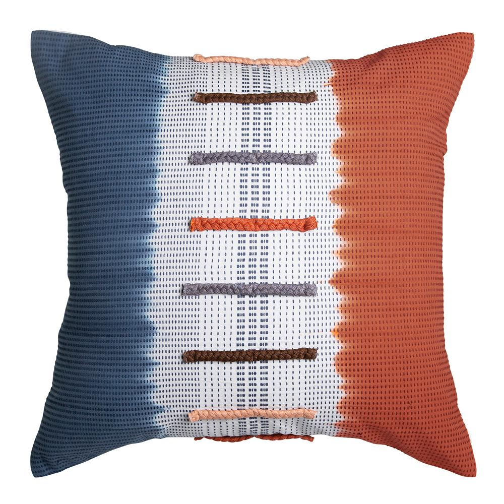 CAMRYN CUSHION 50X50CM INDIGO / RUST