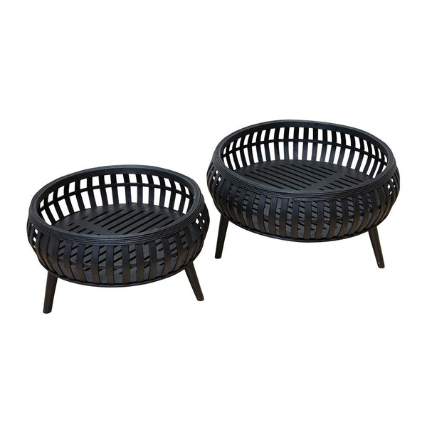 CORA PLANTERS BLACK - Set of Two