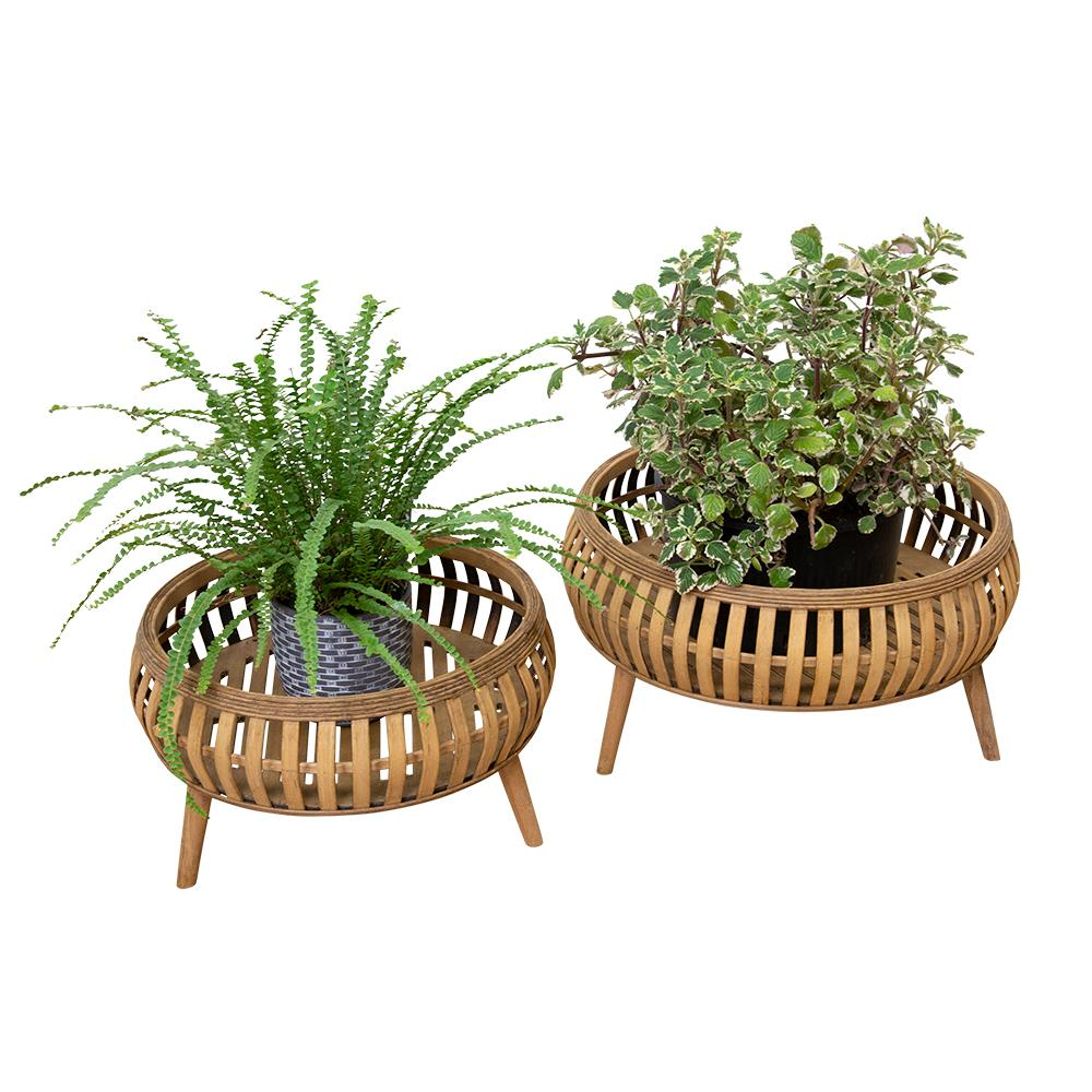 CORA PLANTERS NATURAL - Set of Two