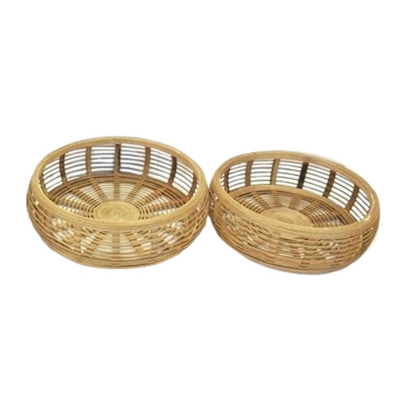ELSIE BAMBOO TRAYS - Set of Two