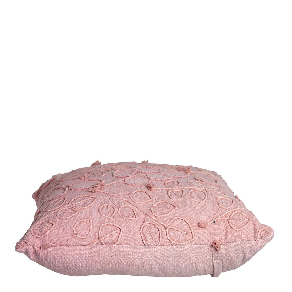 FLOREAT EMBROIDERED CUSHION 50X50CM ROSE PINK