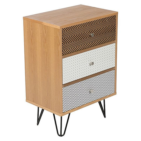 FREJA 3 DRAWER BEDSIDE TABLE