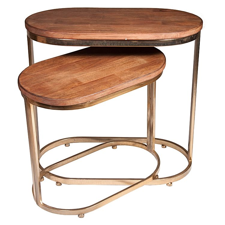 LUXE OBLONG SIDE TABLES - Set of Two