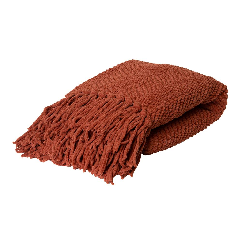 LOUIE THROW 125X150CM BURNT ORANGE ardour wolf design homewares home decor cushion throw