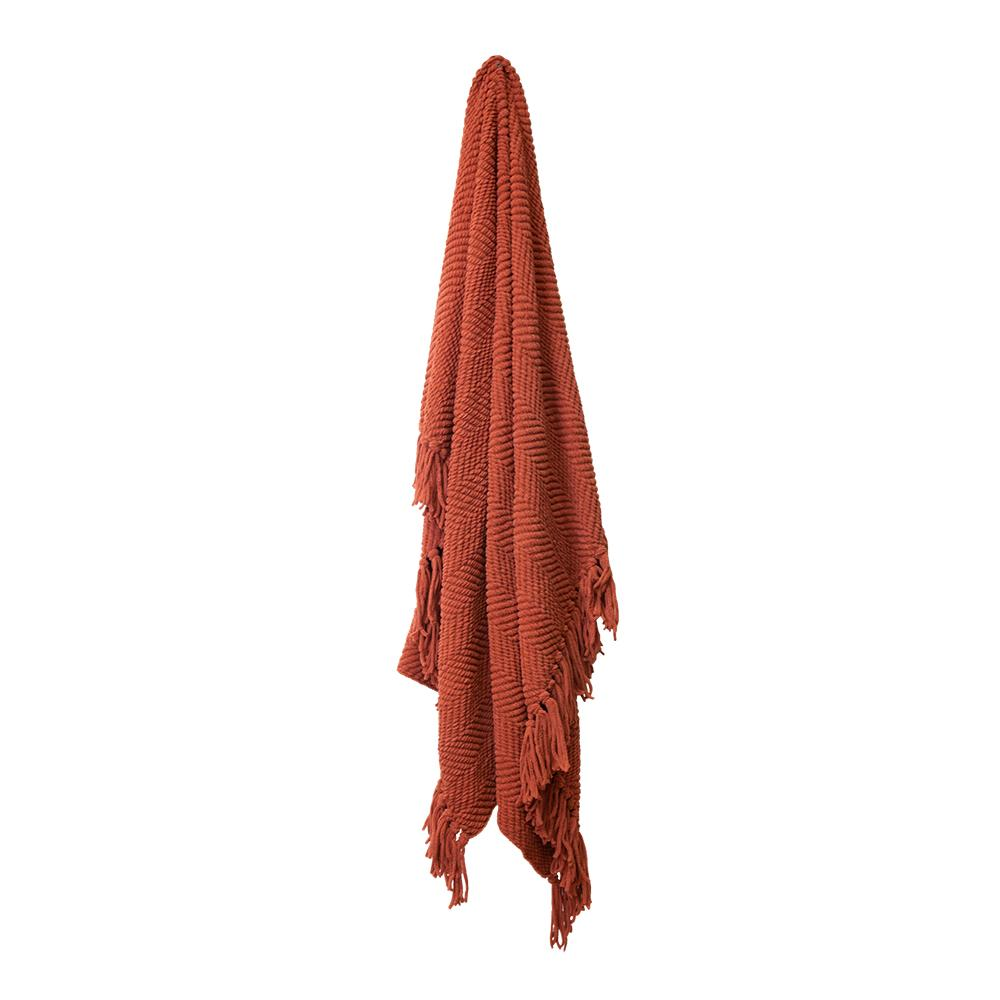 LOUIE THROW 125X150CM BURNT ORANGE