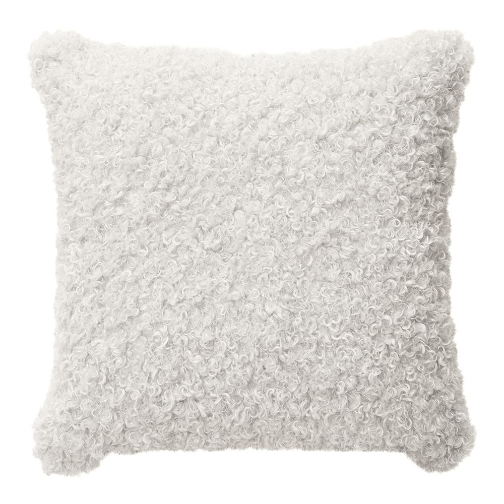 LYLA FAUX SHEEP FUR CUSHION 50X50CM IVORY ardour wolf design homewares home decor cushion throw