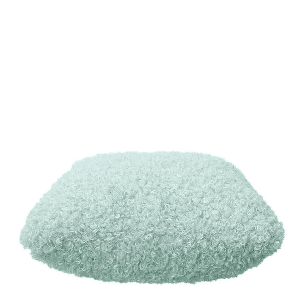 LYLA FAUX SHEEP FUR CUSHION 50X50CM MINT
