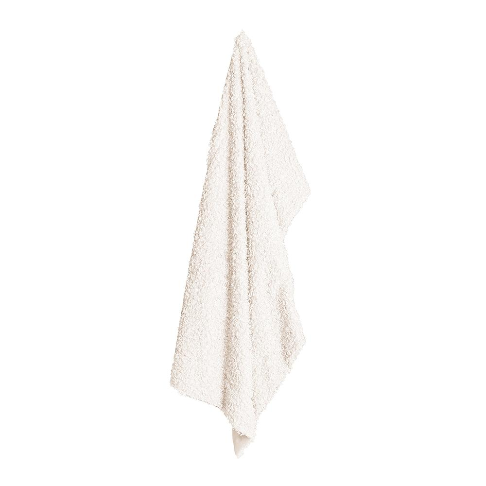LYLA FAUX SHEEP FUR THROW 130X160CM IVORY