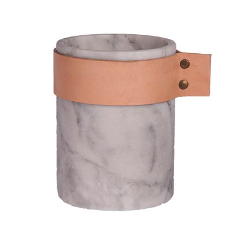 MARBLE LEATHER CANISTER