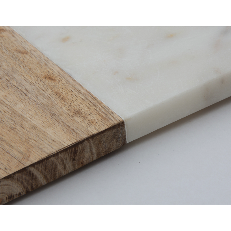 MARBLE & WOOD CHOPPING BOARD SLIM
