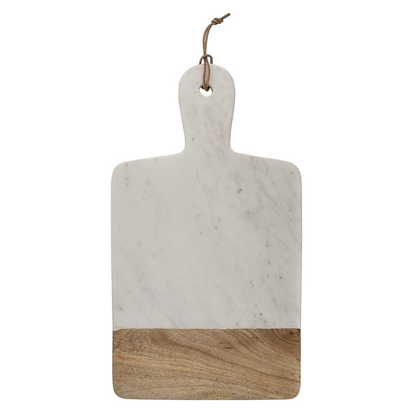 MARBLE & WOOD CHOPPING BOARD WIDE