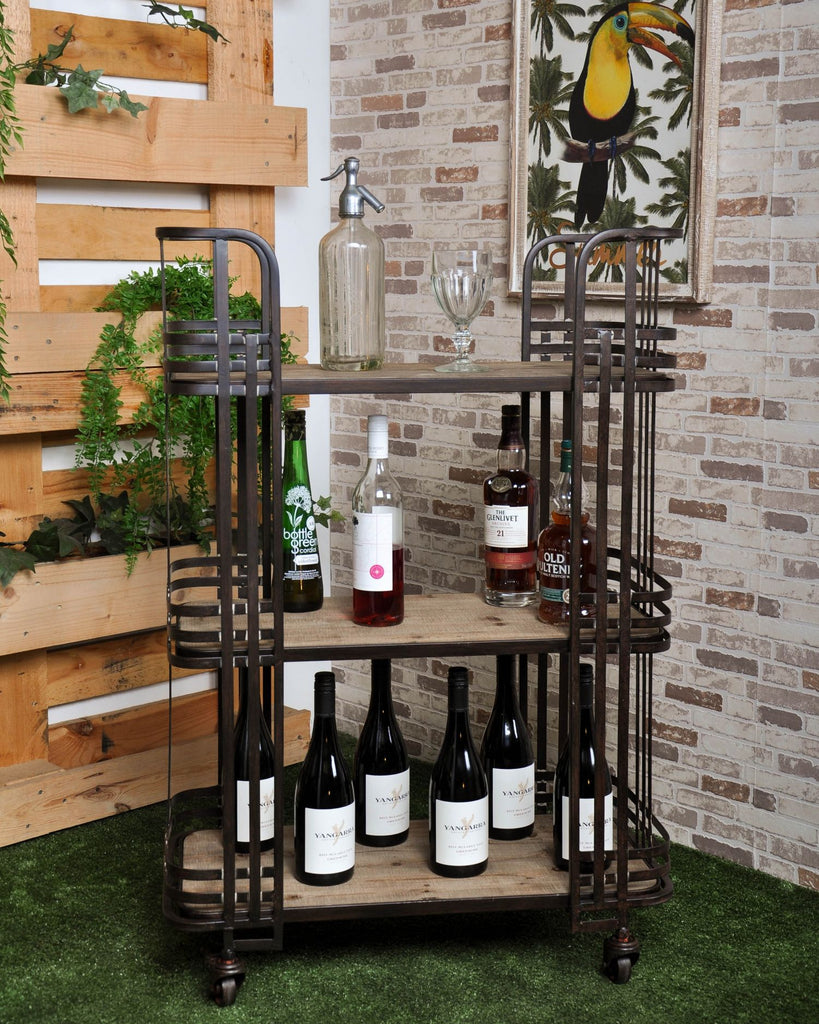 LUXE DECO 3 TIER SERVERY BAR CART