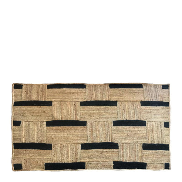 MAISY JUTE RUG 160X230CM NATURAL/BLACK