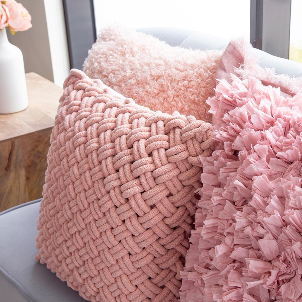 MARIAH CUSHION 50X50CM ROSE PINK