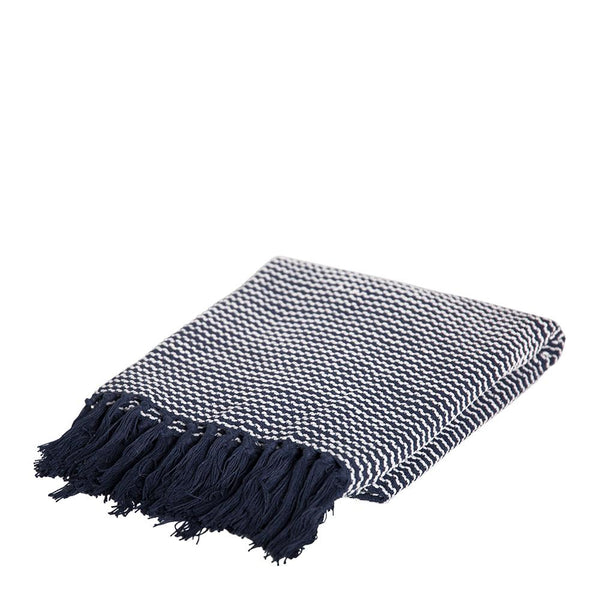 MARLEY THROW 125X150CM INDIGO