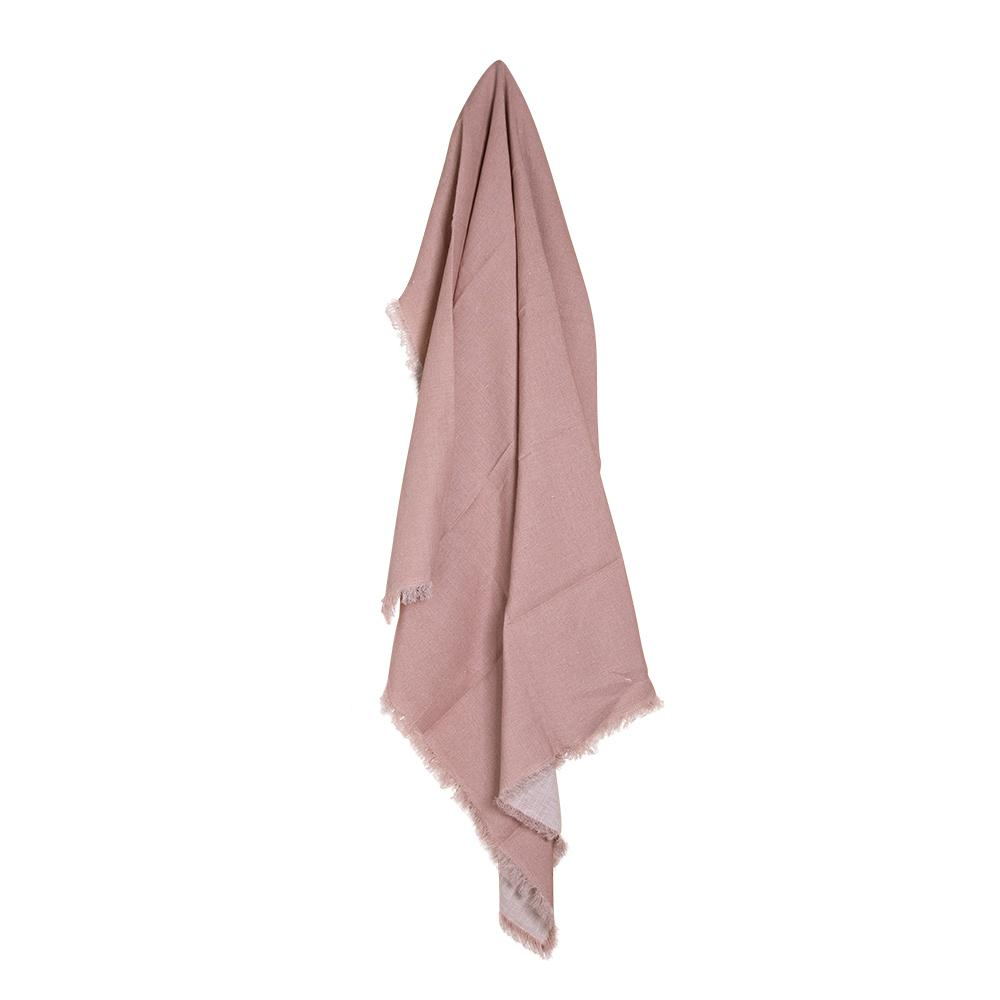 MERCER LINEN THROW 125X150CM BLUSH