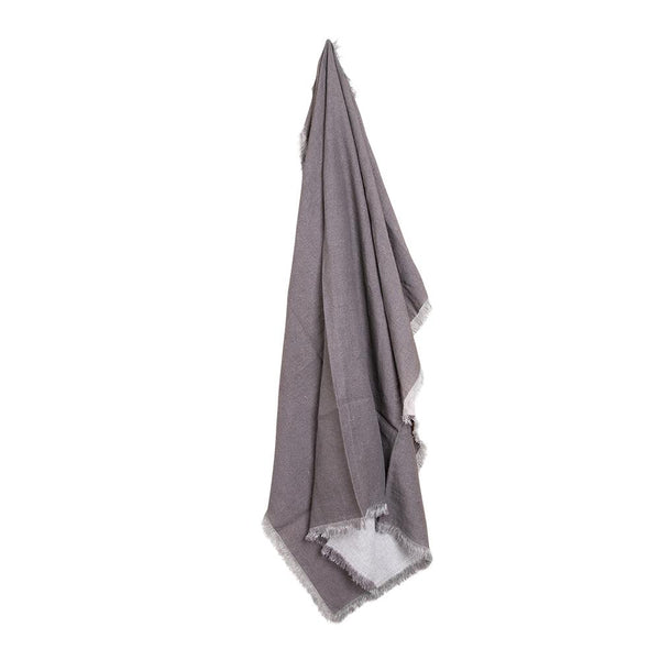 MERCER LINEN THROW 125X150CM CHARCOAL