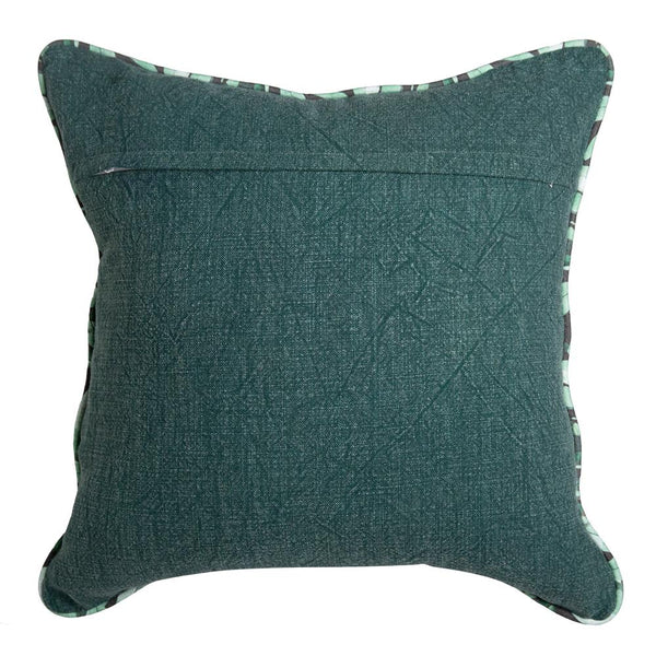 NORRIE EMBROIDERED CUSHION 50X50CM EDEN GREEN