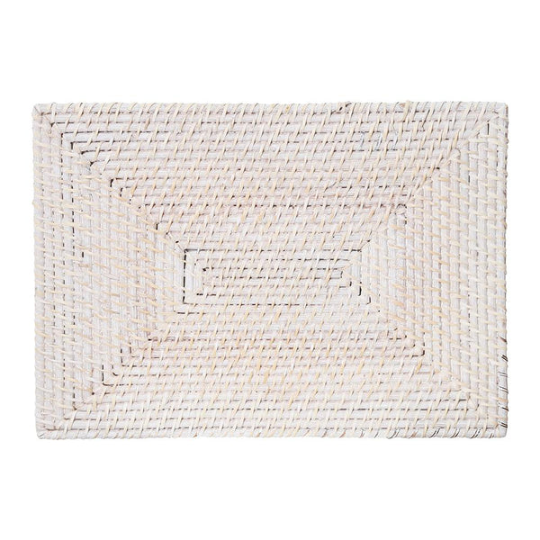 PACIFICA RATTAN PLACEMAT 45X30CM WHITE WASH - Set of Two
