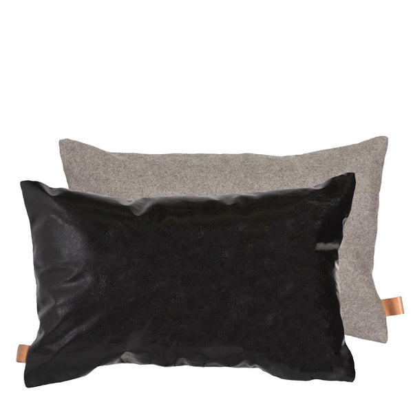 PARKER CUSHION 35X55CM BLACK/GREY