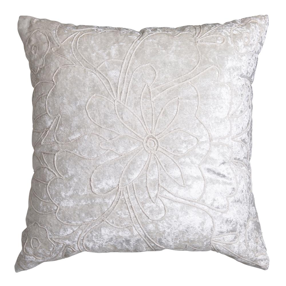 PEARL EMBROIDERED CUSHION 50X50CM IVORY