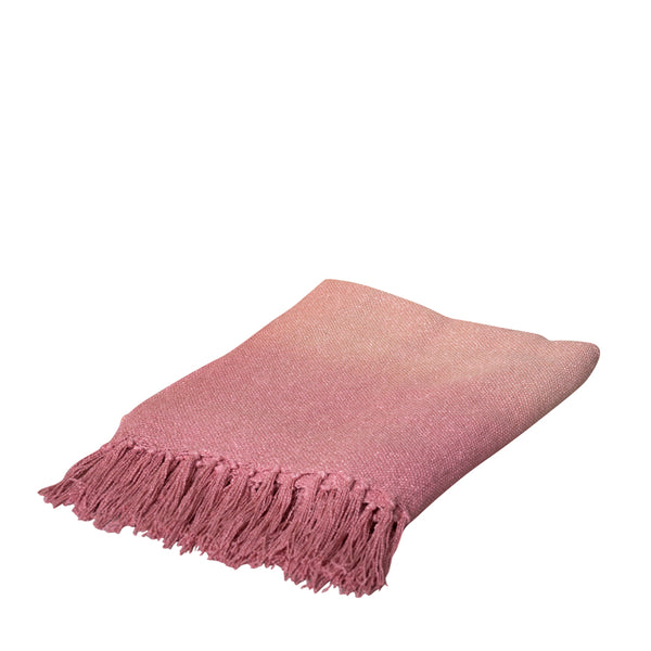 RISE THROW 125X150CM PINK ardour wolf design homewares home decor cushion throw