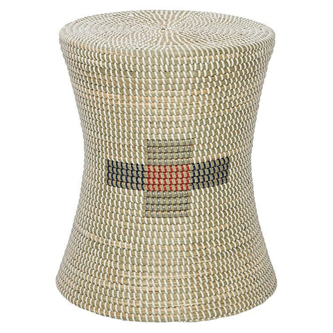 SEAGRASS STOOL WHITE