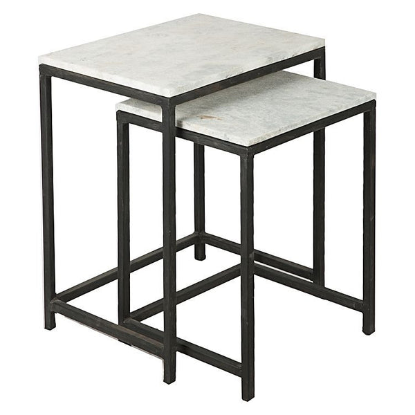 STONE SIDE TABLE - Set of Two