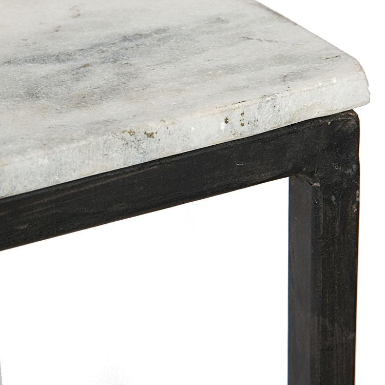 NATURAL STONE NESTING SIDE TABLES - Set of Two