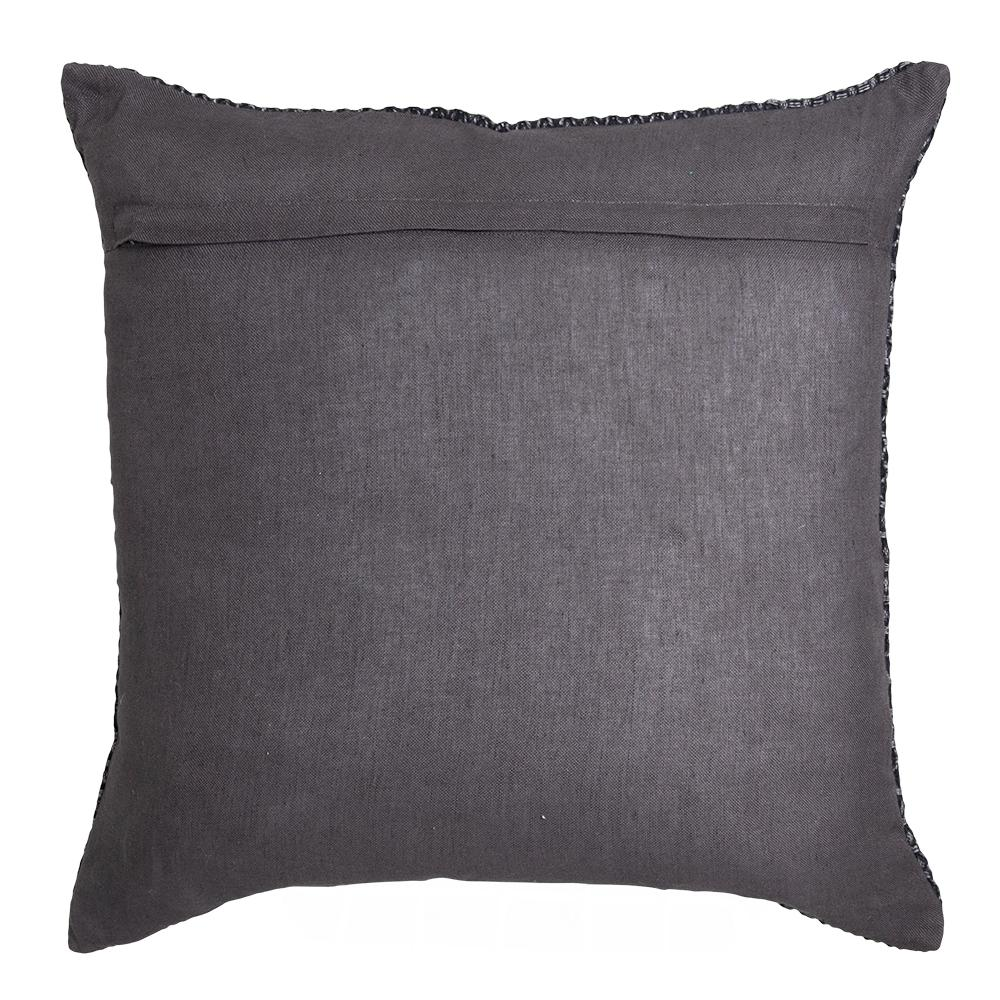 TAYLOR JACQUARD 50X50CM CUSHION CHARCOAL