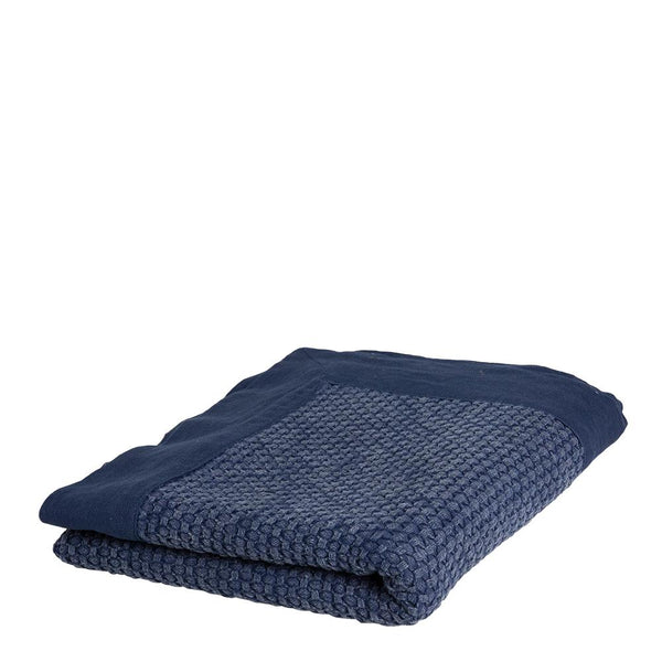 TAYLOR JACQUARD THROW 125X150CM INDIGO