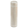 3PC BAMBOO PILLAR CANDLE HOLDER ardour wolf design decor natural coastal set