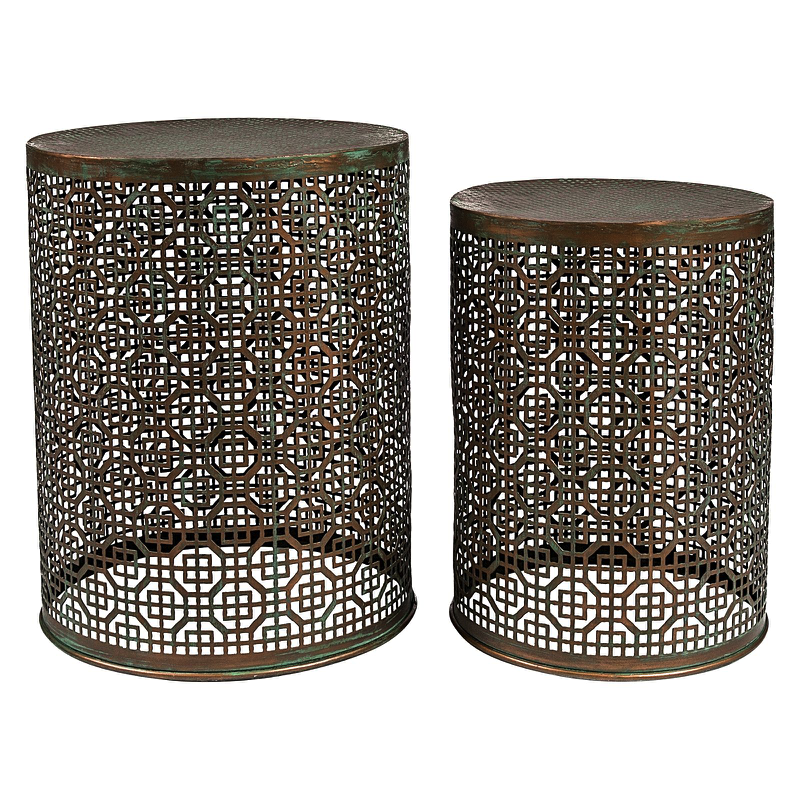 RABAT STOOL STANDS - Set of Two