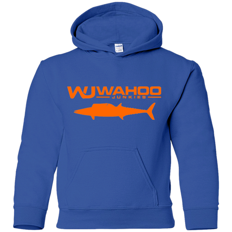 Wahoo Junkies Youth Pullover Hoodie (Blue & Orange)