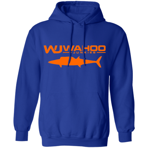 Wahoo Junkies Blue/Orange Pullover Hoodie 8 oz.
