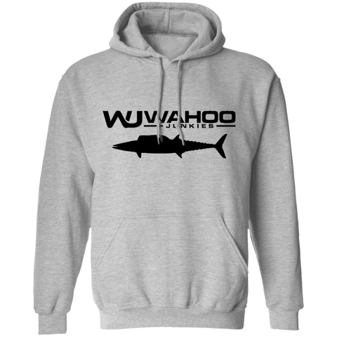 Wahoo Junkies Grey/Black Pullover Hoodie 8 oz.