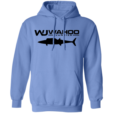 Wahoo Junkies Light Blue/Black  Hoodie 8 oz.