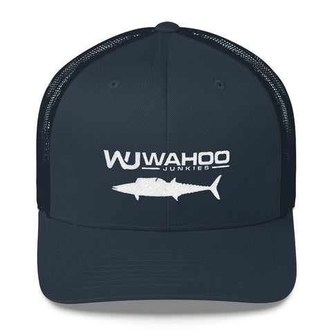 Embroidered Wahoo Junkies Trucker Cap w/Wahoo