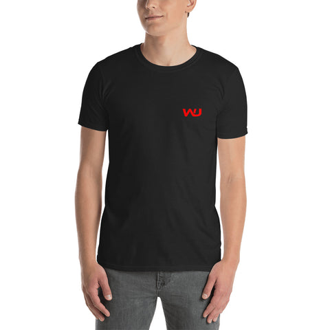 Red/Black Wahoo Junkies Short-Sleeve Unisex T-Shirt