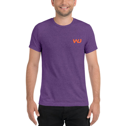 Purple/Orange MensShort sleeve t-shirt