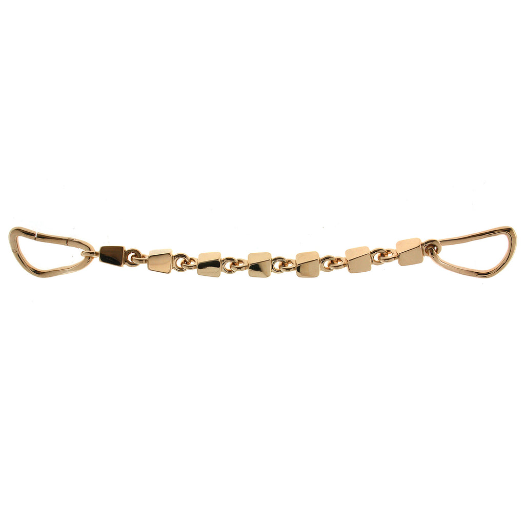 Box Chain Link Cuff Bracelet Gold