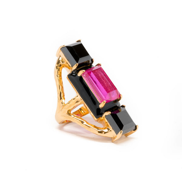 Cattleya Cocktail Statement Ring
