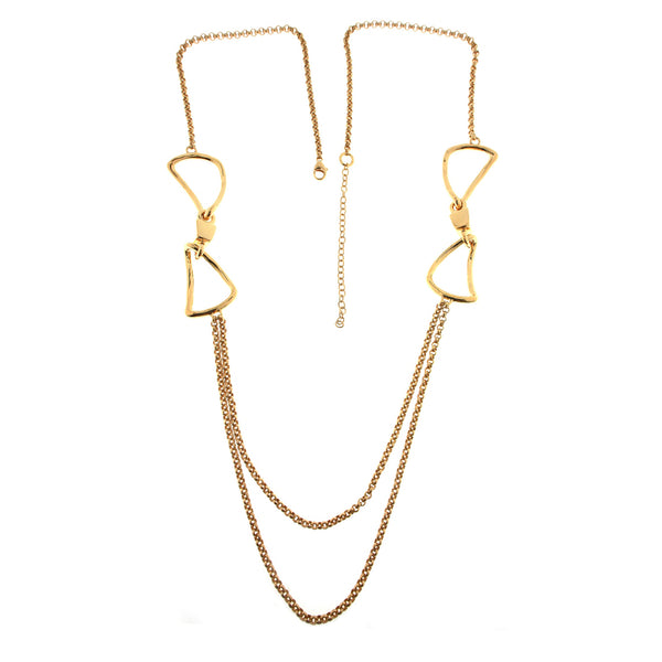 Long Chain Link Necklace Gold