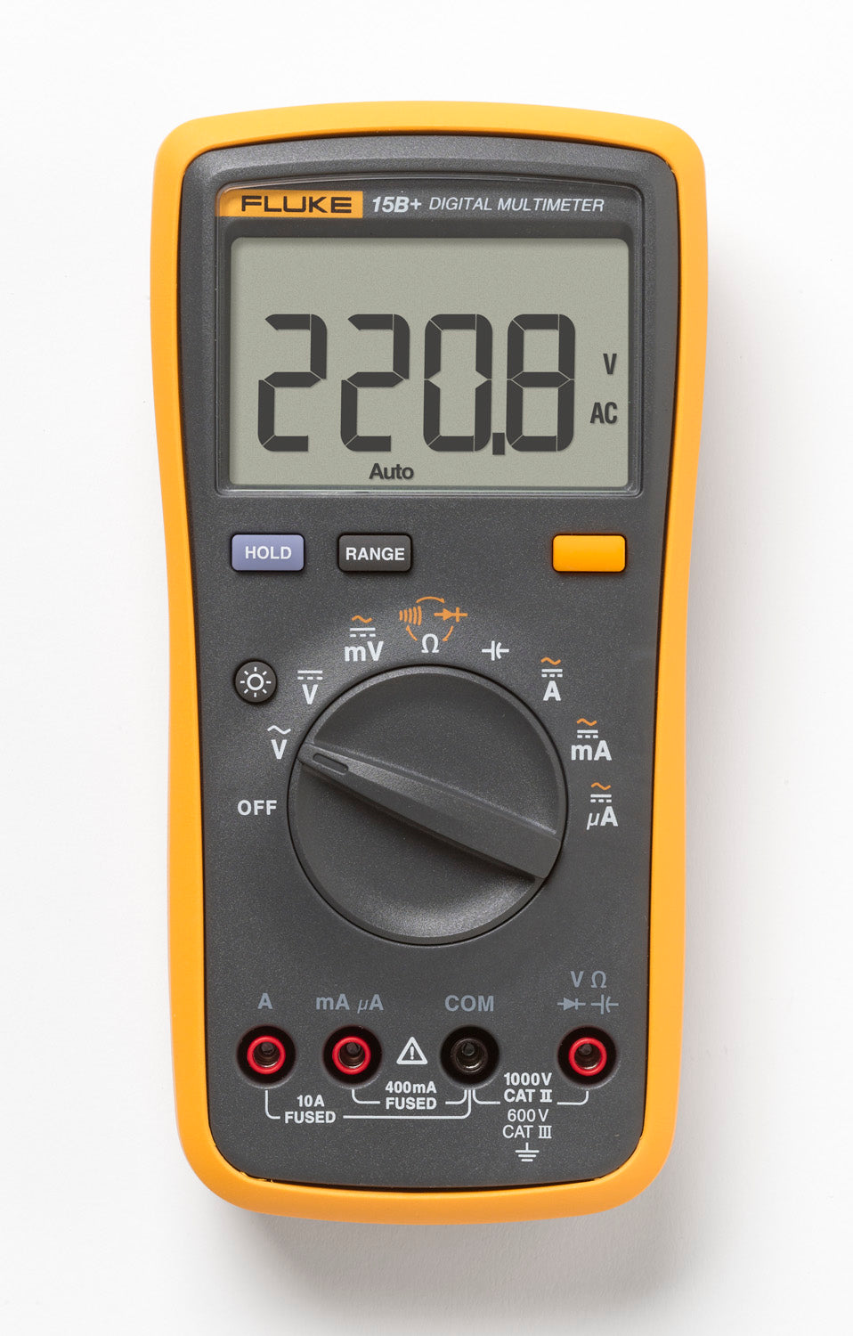 FLUKE 15B+ DIGITAL MULTIMETER 1000V AC/DC