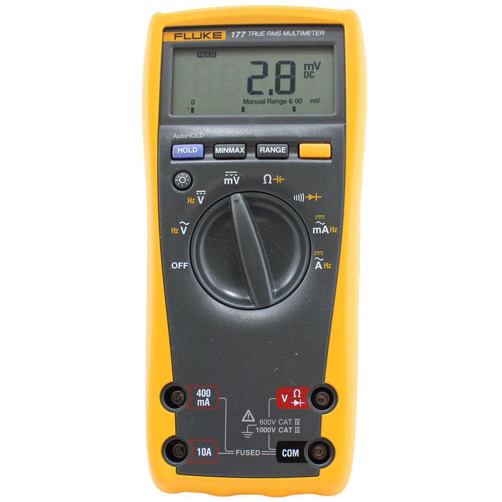 FLUKE 177 TRUE RMS DIGITAL MULTIMETER; 1000V AC/DC VOLTAGE; 10A AC/DC CURRENT