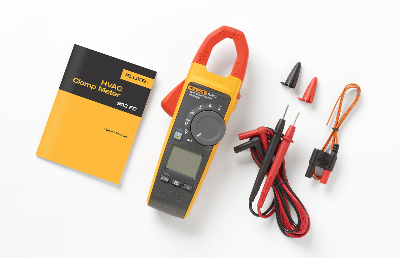FLUKE 902 FC TRUE-RMS HVAC CLAMP METER 600V