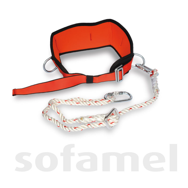 Support belt with rope