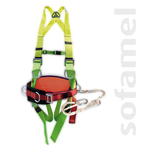Fall-arrest harness with belt