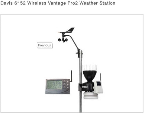 Davis 6152 Wireless Vantage Pro2 Weather Station UAE